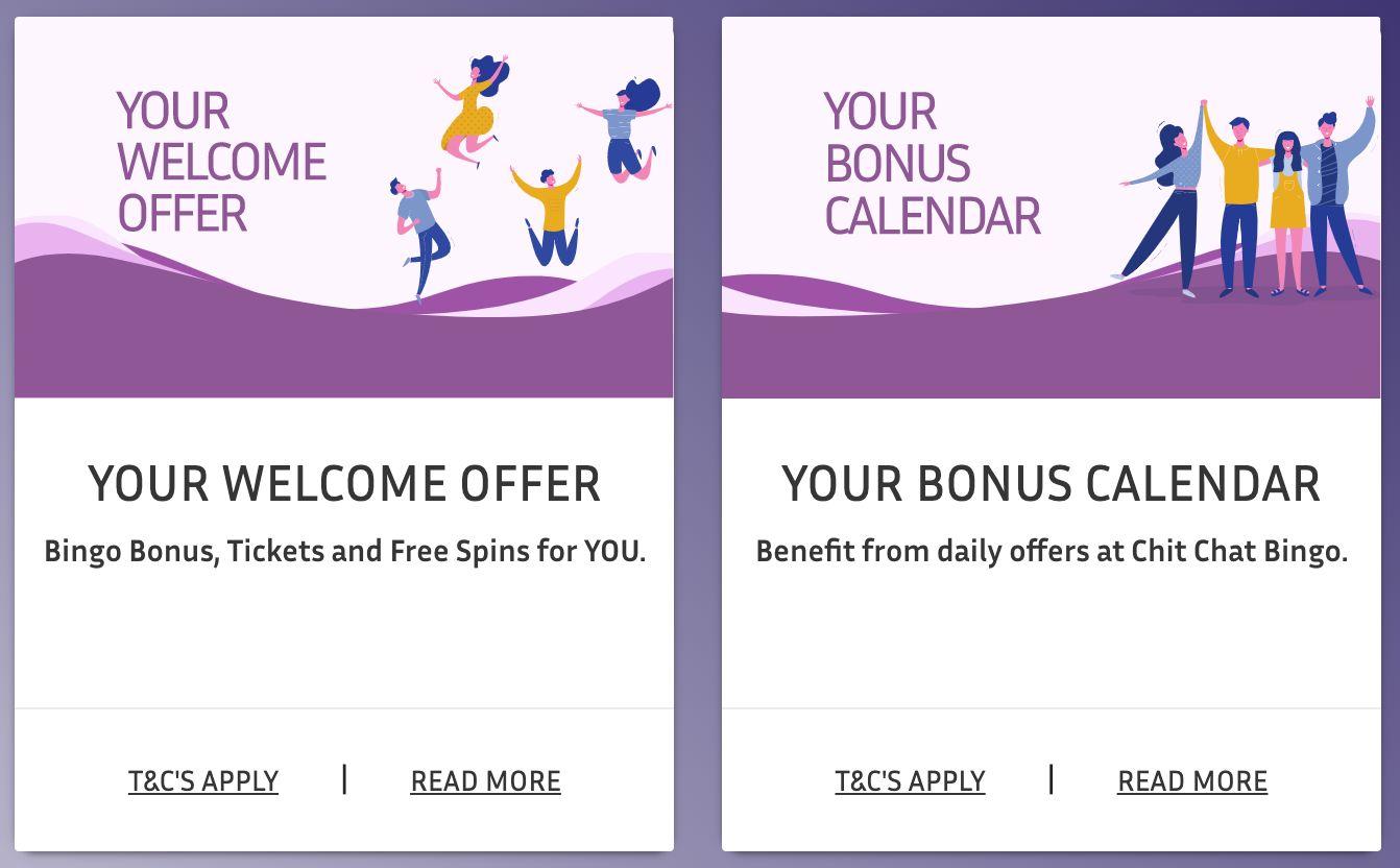 Chit Chat Bingo Website Promotions