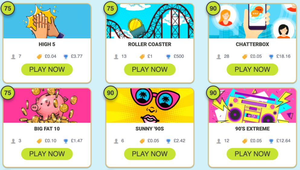 Bingo Fabulous 24-7 Bingo Games