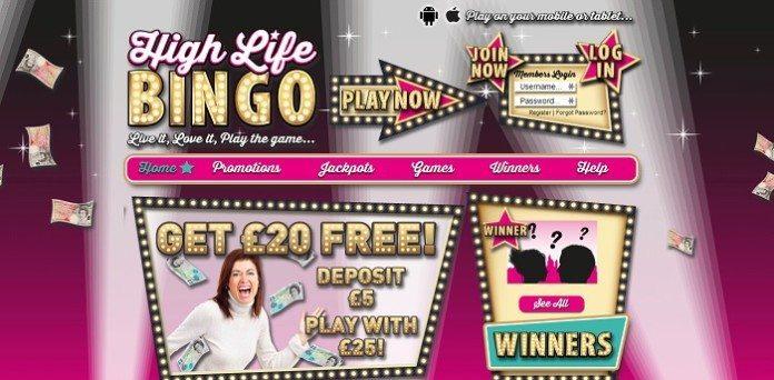 high life bingo review