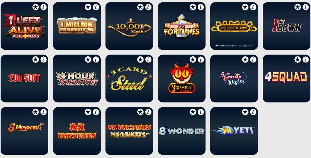 Betfred Slot Games
