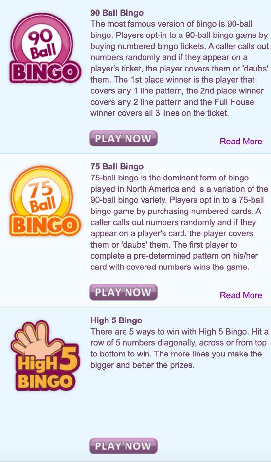 Bubble Bonus Bingo Bingo Games