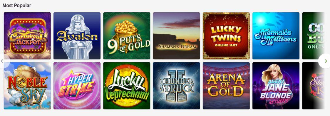 Butlers Bingo Popular Slot Sites