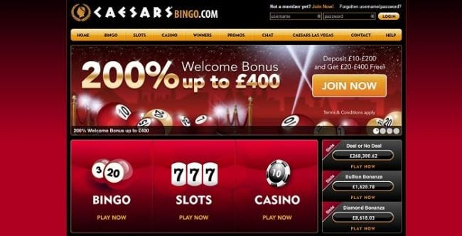 Caesars bingo review