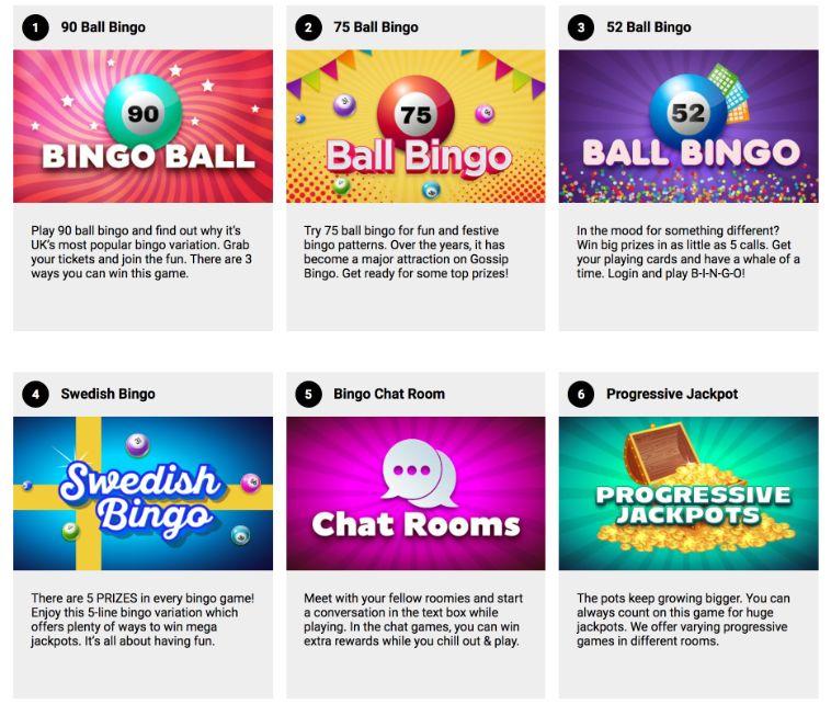 gossip bingo bingo games