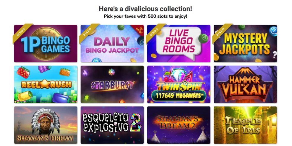 diva bingo slots