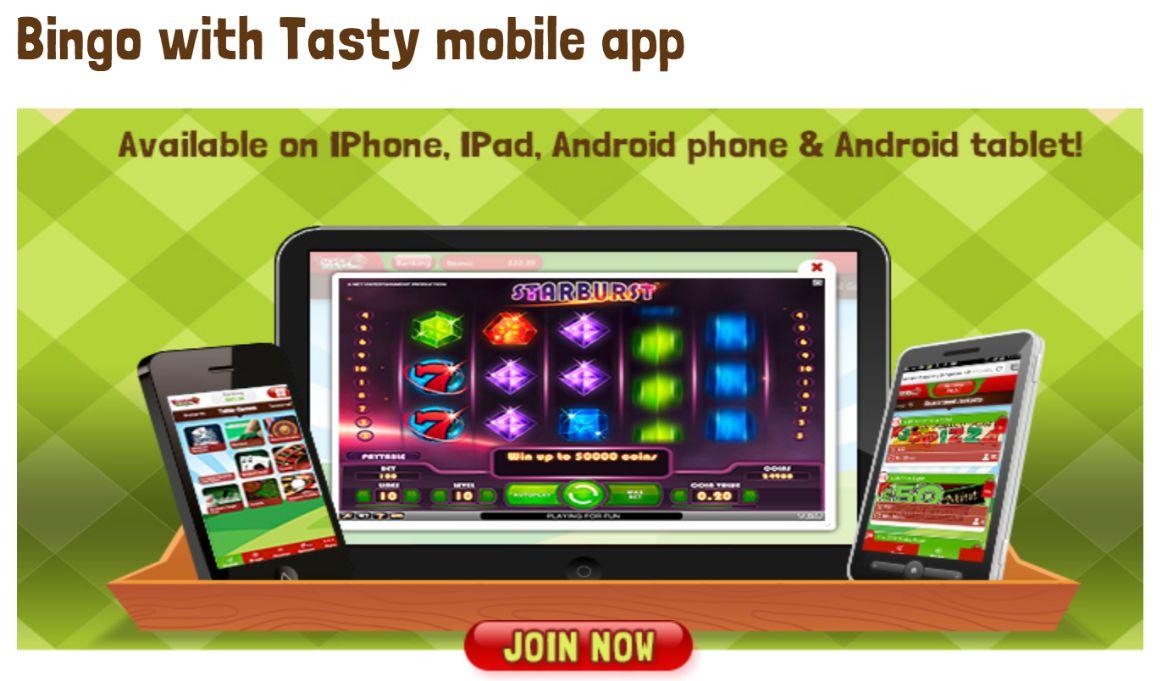 tasty bingo on mobile