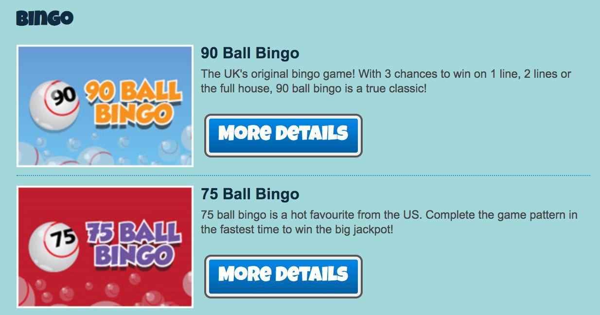 City bingo bingo games