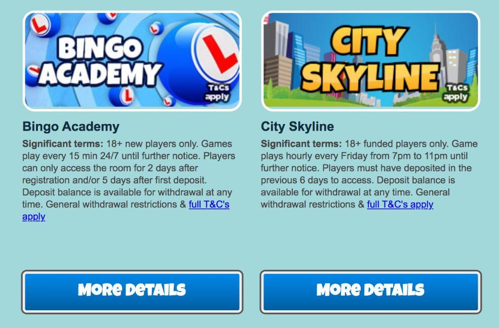 City bingo promotions