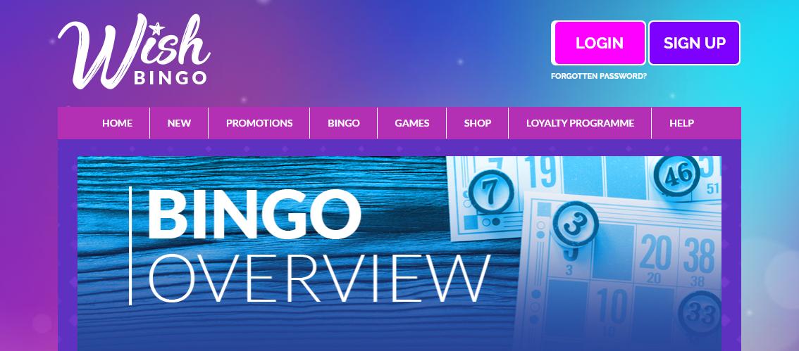 Wish Bingo Website Overview
