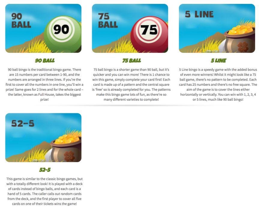 Giant bingo bingo games