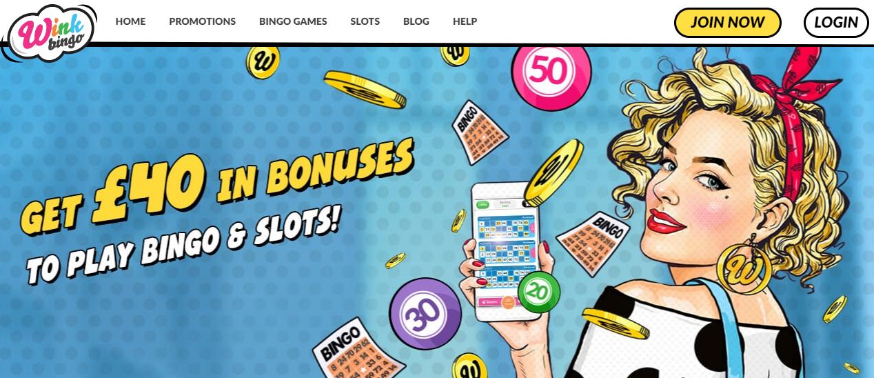 Wink Bingo Sign Offer