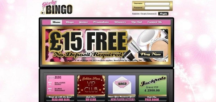 Girly-Bingo-Homepage
