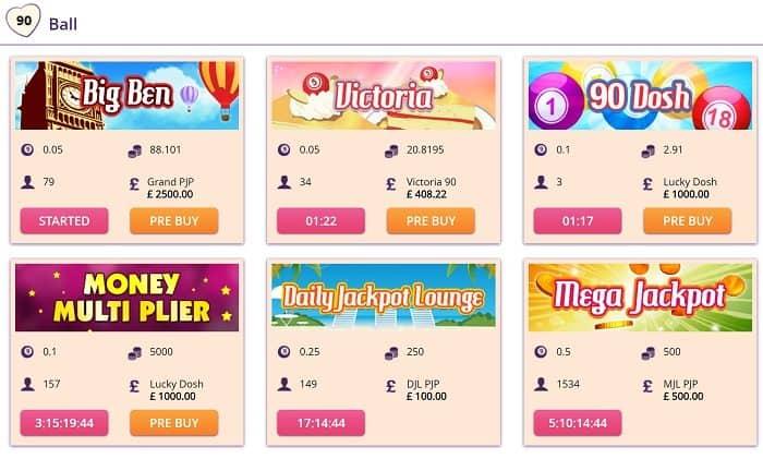 big love bingo games