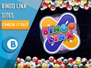 """Background of space, with logo of Bingo Linx in centre, with bingo ball border. White/blue square to left with text """"Bingo Linx Sites"""", CTA below it and BoomtownBingo logo under that."""
