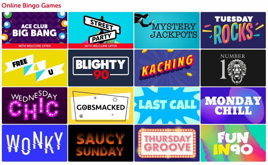 Blightly Bingo Games