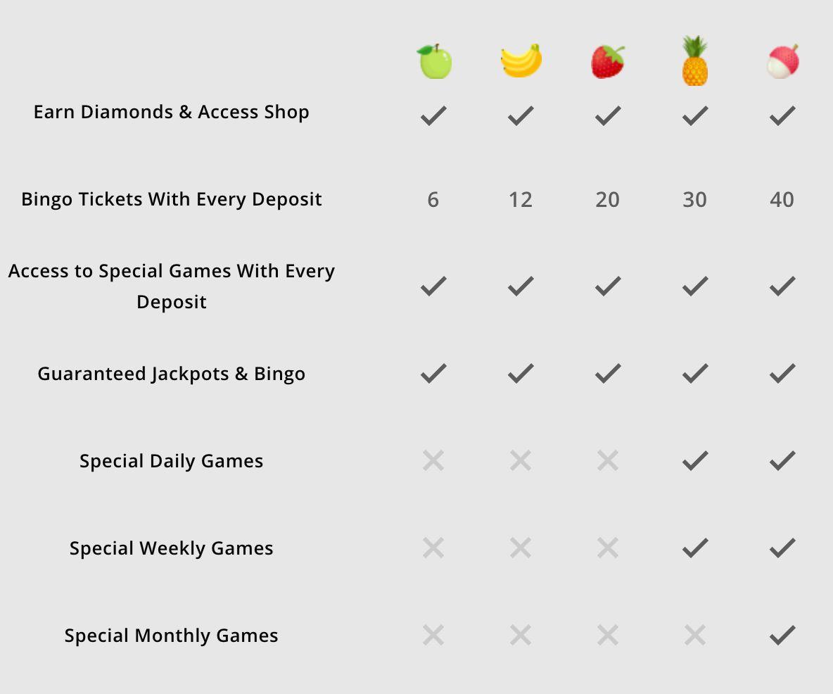 Bringo Bingo Loyalty Benefits