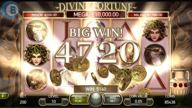 Divine Fortune Big Win