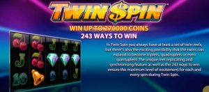 Twin Spin Slot 243 Ways To Win