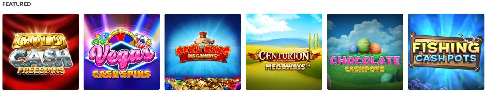 Coral Bingo Featured Slots Games
