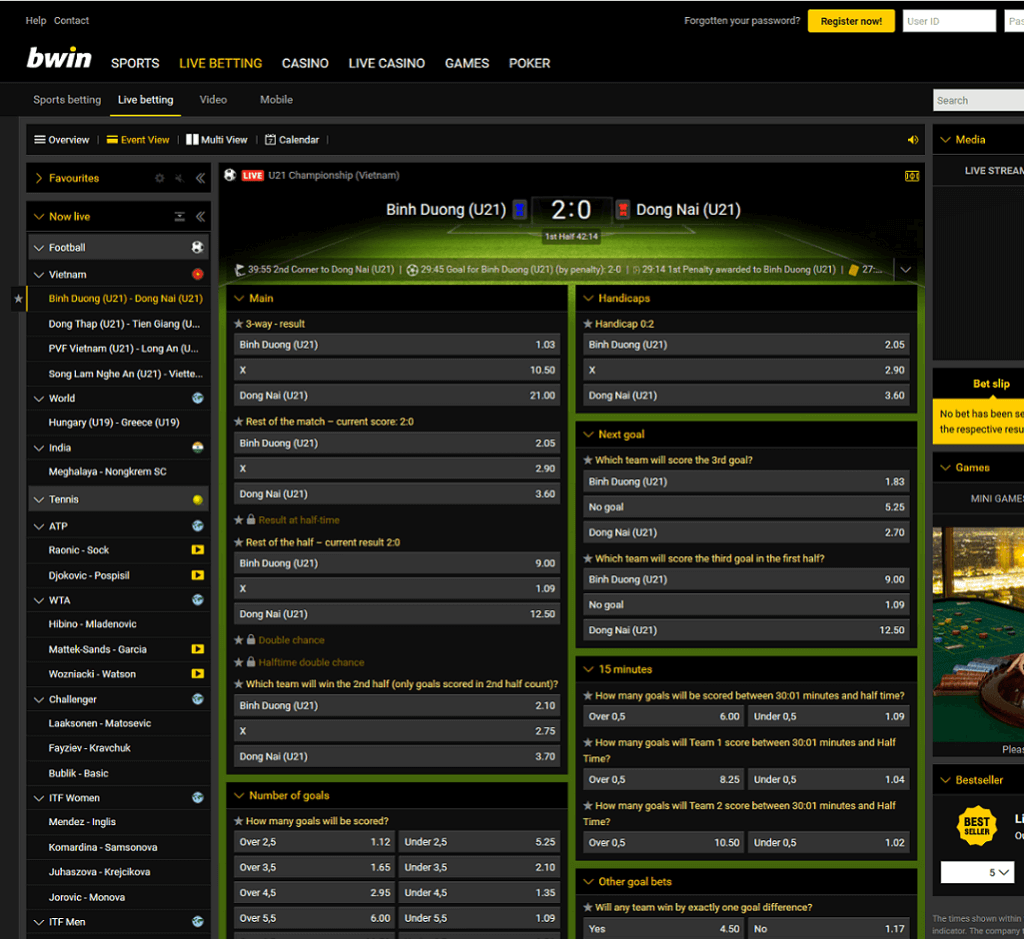BWIN Sports Features