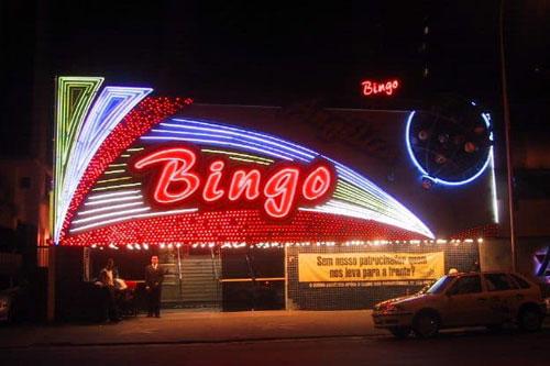 outside a bingo hall