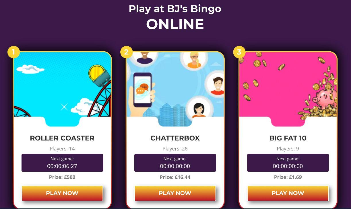 BJs Bingo Games Online