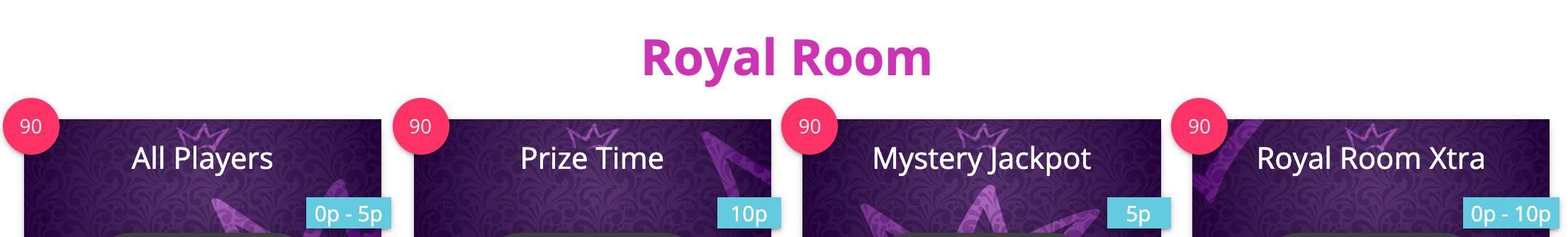 Bingozino Royal Room Bingo Games