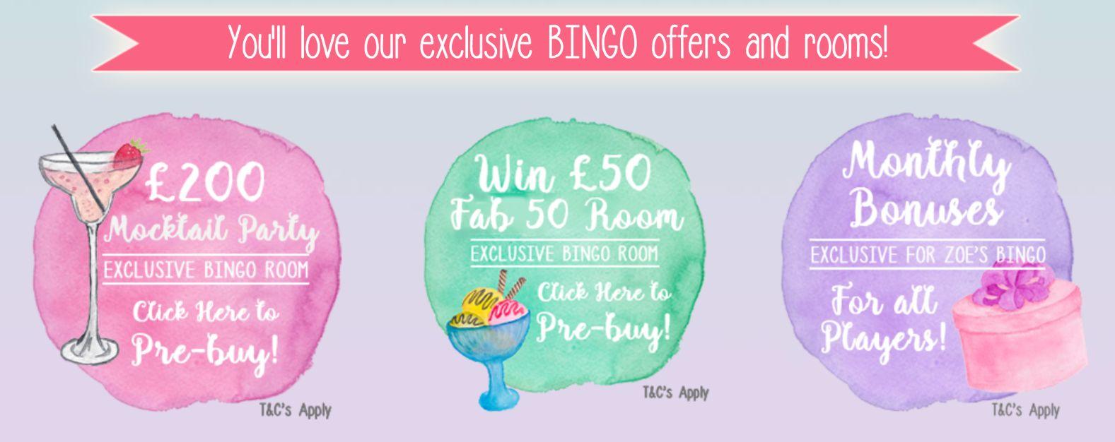 zoes bingo bingo rooms