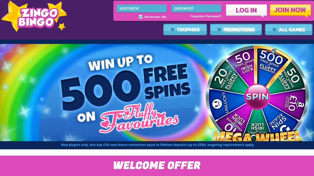 Zingo Bingo Sign Up Bonus