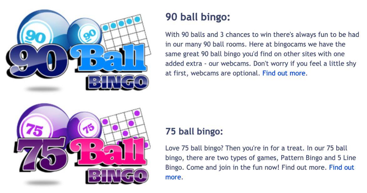 Bingo Cams Bingo Games