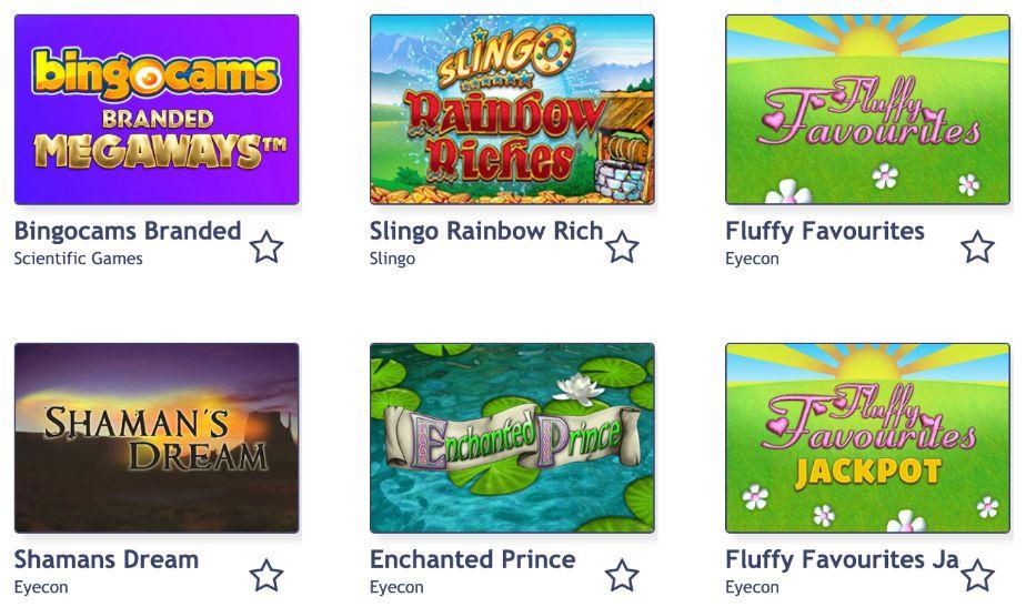 Bingo Cams Slot Games