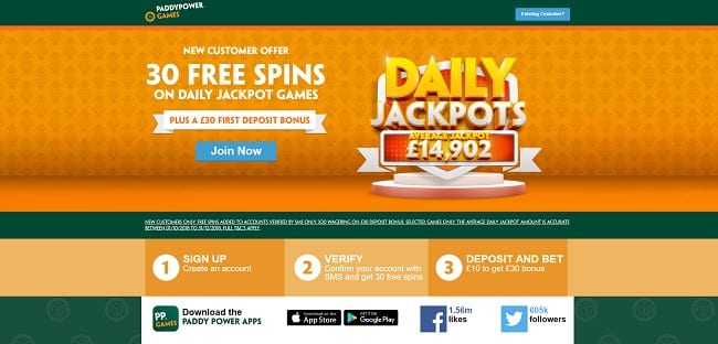 Paddy Power Games Review – Get 30 Free Spins