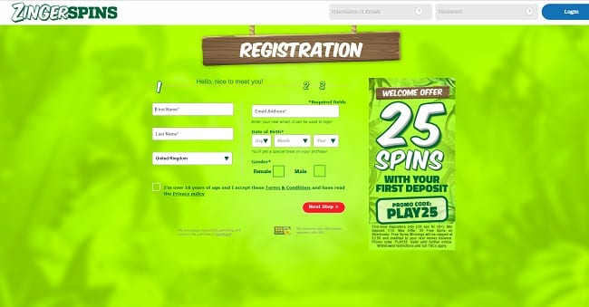 Zinger Spins Review – Get 25 Free Spins with First Deposit