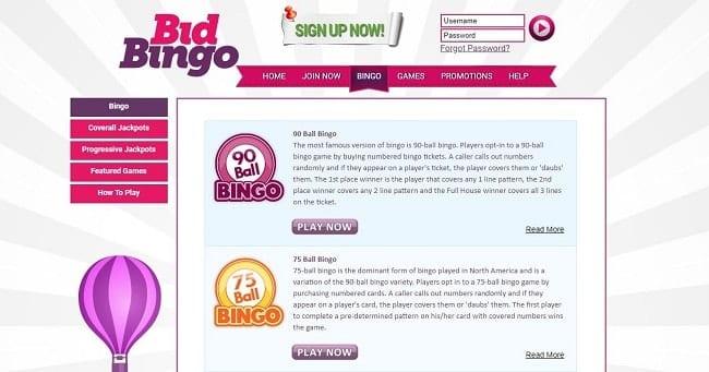 Bid Bingo Games
