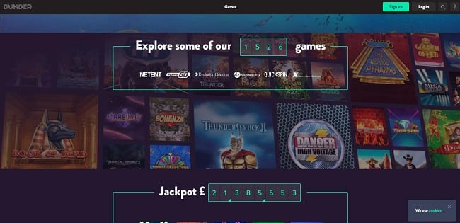 Dunder Casino Review – £100 Welcome Bonus + 120 Spins