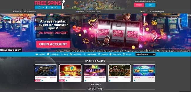 Free Spins Casino Reviews