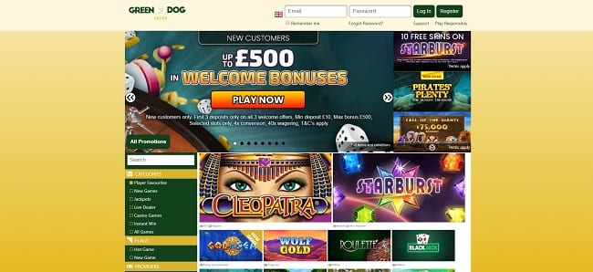 Green Dog Casino Reviews
