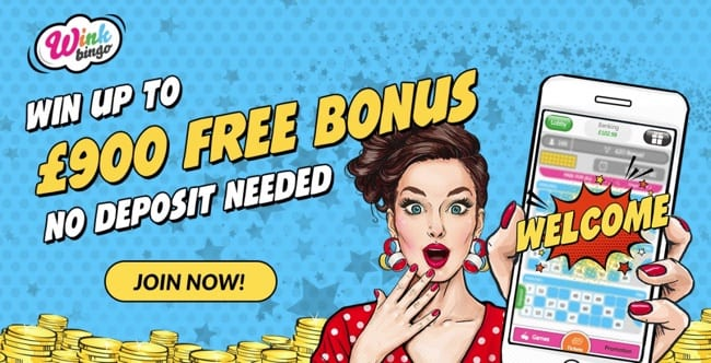 Wink Bingo Review – Grab Yourself Up To £900 – No Deposit Needed