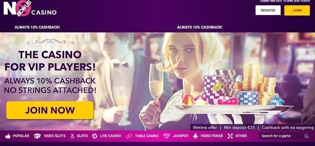 No Bonus Casino Reviews