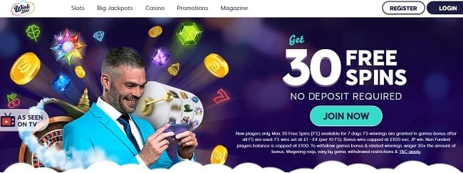 Wink Slots Review – Get 30 FREE Spins No Deposit Required
