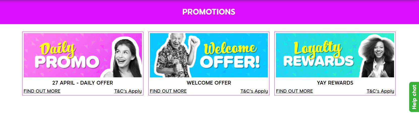 Yay Bingo Offers