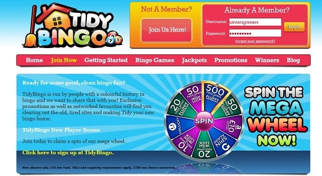 Tidy Bingo Reviews