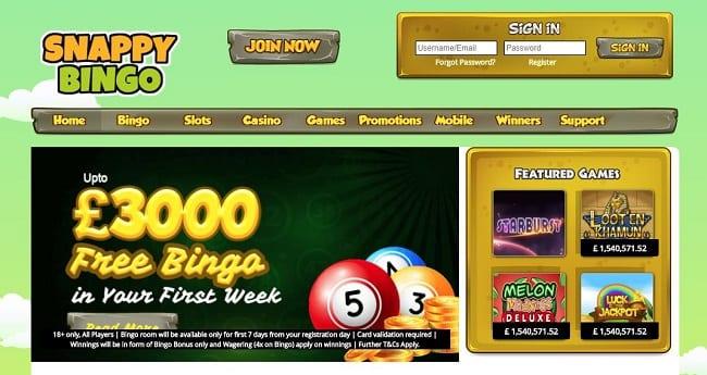 Snappy Bingo Reviews