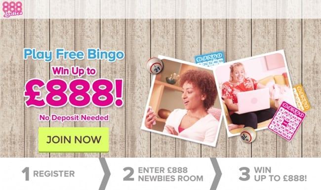 888 Ladies Bingo Review – Win Up To £888 – No Deposit Needed