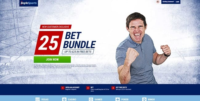 BoyleSports Betting – Up to £25 Free Bets