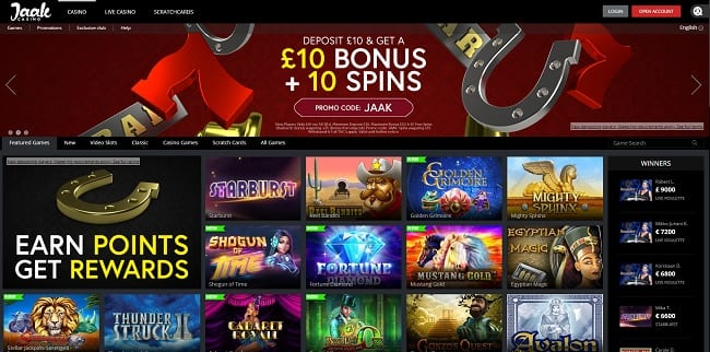Jaak Casino Review – Deposit £10 Get £10 Bonus + 10 Free Spins