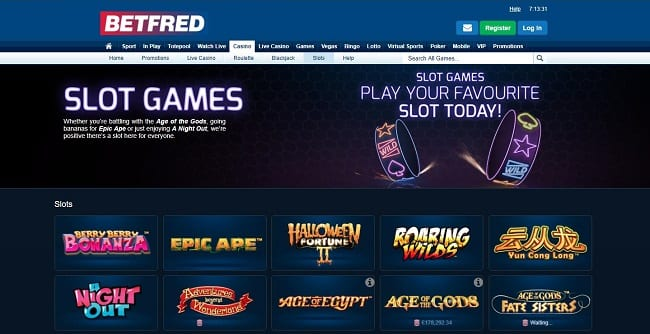 Betfred Slots Reviews