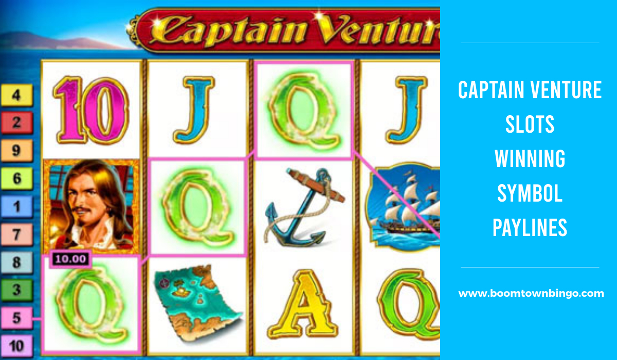 Captain Venture Slots Symbol winning Paylines