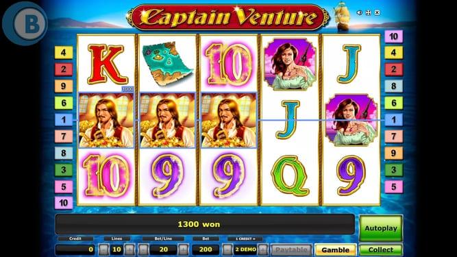 Captain Venture Slots Win