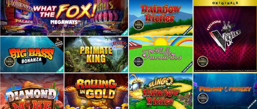 buzz bingo best slot games
